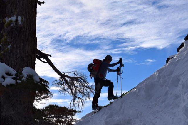 Tallac Sara uphill