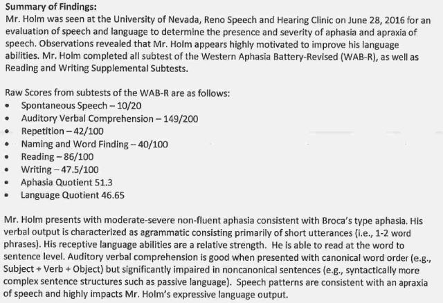 1 UNR speech evaluation report summary